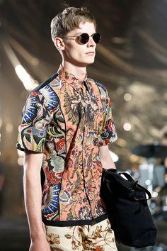 Dries van Noten, Spring/Summer 2014, model: Janis Ancens