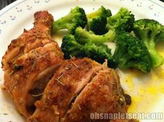 Simple recipe for chicken leg quarters when you don't feel like standing in the kitchen for a long time before you eat your dinner.
