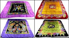 """Scarves Hijab Pure Silk Batik Hand Printed Lovely Designs Hand Hemming 36"""" X 36"""" #Handmade #Scarf #AllOccasion"""