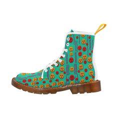 Pumkins dancing in the season pop art Martin Boots For Men Model 1203H