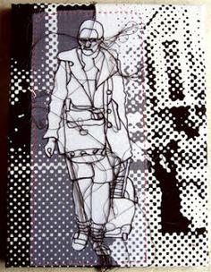 Rosie James - Negative and positive space. Textile Sculpture, Textile Fiber Art, Textile Artists, Textiles Sketchbook, Art Sketchbook, Fashion Sketchbook, Rosie James, Negative Space Art, A Level Textiles