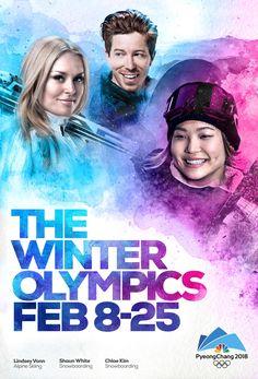 NBC Pyeongchang Winter Olympics Poster Design by David Villouta Winter Olympics, David, Movies, Movie Posters, Design, Art, Winter Olympic Games, Art Background, Film Poster