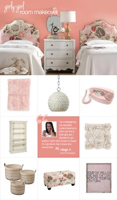 Lydia's Girly-Girl Room Makeover #betweenfriends