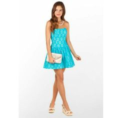 Lilly Pulitzer Tenley Blue Lace Dress