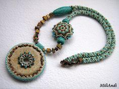 Orsini - beaded donut necklace