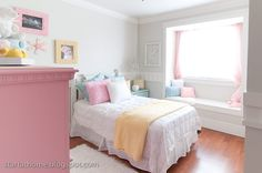 I redid my daughter's room again. I know I am a bit crazy! Here is what it looked like when we first bought the house. A little brown! Girls Bedroom, Bedroom Decor, Blue Bedroom, Bedroom Ideas, Pastel Interior, Floral Room, Pretty Bedroom, Daughters Room, Blue Rooms