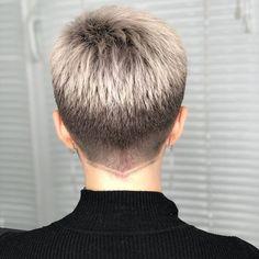 Short Hair Back, Edgy Short Hair, Really Short Hair, Super Short Hair, Short Hair Older Women, Short Hair With Layers, Short Hair Cuts, Undercut Hairstyles Women, Tomboy Hairstyles