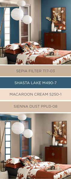 This classic blue and tan color palette from BEHR uses a combination of colors from the 2017 Color Currents. There are a million different ways that you can adapt this modern color palette to your own unique sense of style. Check out the rest of BEHR's paint colors to find the shade that works best for you.