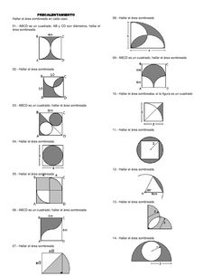Area of Compound Shapes Subtracting Regions Worksheets