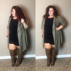 Are you looking for plus size fall outfits to rock this season? We've gathered together 20 of the season's best plus size outfits. Plus Size Fall Outfit, Plus Size Fall Fashion, Plus Size Outfits, Plus Fashion, Plus Size Winter Outfits, Fat Fashion, Fashion Black, Work Fashion, Unique Fashion