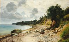 Janus La Cour (1837-1909): Summer day on the beach near Aarhus, 1901