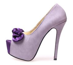 Shoes - Cute Bow Peep Toe 13cm Heels in Purple was sold for R300.00 on 10 Oct at 10:16 by Purplefashion in Taiwan (ID:75521444)