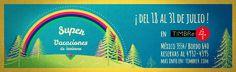 Super vacaciones de invierno en TIMBRe4  Por segundo año consecutivo TIMBRe4 presenta una programación especial para chicos en vacaciones de invierno. Del 18 al 31 de julio se realizarán 14 obras y más de 30 funciones con propuestas pensadas para disfrutar con familia y amigos. Teatro títeres acrobacia circo música teatro para bebes y globología son algunas de las opciones que se podrán disfrutar en la edición 2016.  Programación del 18 al 31 de julio:  Por qué no te mandé al turno tarde?…