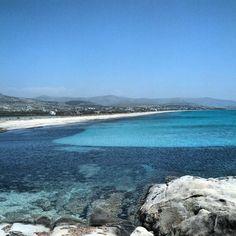 Um mar de azuis (Naxos, Grécia)