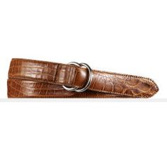 Alligator O-Ring Belt - Ralph Lauren Belts & Braces - RalphLauren.com