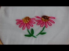Hand Embroidery: Double Lazy Daisy Stitch - YouTube