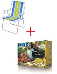 Kit: Cadeira Alta Aço MOR COD 2002 + Churrasqueira Portátil Montana MOR COD 3005 Caracteristicas cadeira:  Estrutura de aço carbono com acabamento em pintura epóxi a pó branca,peças plásticas em polipropileno.  Tela 100 % polietileno. Caracteristicas churrasqueira: Estrutura em aço com acabamento em pintura preta a base de água. Acessórios cromados. Acessórios: 01 Grelha ,02 espetos simples 48 cm e 01 espeto duplo 48 cm