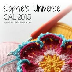 Sophie's Universe Crochet-a-Long 2015 - Free 20 week mystery CAL for a continuous square blanket.