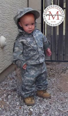 Monzanita's: Toddler Army Uniform Costume from Daddy's ACU's