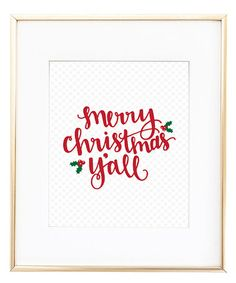 Look at this #zulilyfind! 'Merry Christmas Y'all' Print by Stephanie Creekmur #zulilyfinds