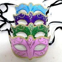 When your customers need bulk masks, these Venetian style masks offer a decent look with a variety of colors at a cheap price.  Shop for more wholesale masks at low prices by following the link.  http://www.awnol.com/store/Masks