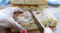Foccacia Recipe, Easy Focaccia Bread Recipe, Bread Recipe Video, Artisan Bread Recipes, Easy Baking Recipes, Donut Recipes, Cooking Recipes, Scd Recipes, Bread Making