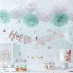 décoration baby shower fille ou garçon - boy or girl baby shower decoration