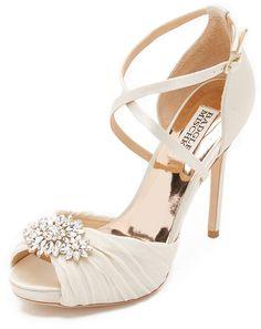 ef4babd1918 Badgley Mischka Cacique Peep Toe Pumps Bridal Heels