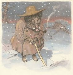 Ukrainian fairy tale, Moscow: Detgiz, illustrated by Evgenii Rachev Winter Activities, Macabre, Golden Age, Mittens, Fantasy Art, Fairy Tales, Folk, Illustration, Fictional Characters