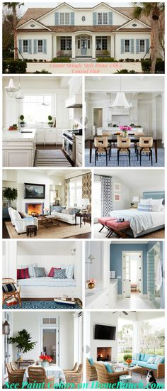 New Coastal Interior Ideas for the New Year. 2017 Classic Shingle Style Home with a Coastal Flair via Home Bunch.