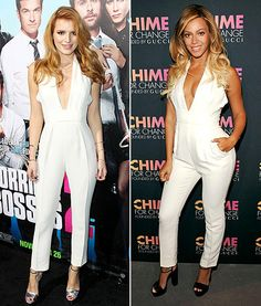 Bella Thorne, Beyonce Wear the Same White Plunging Jumpsuit on the Red Carpet: Who Wore It Best?