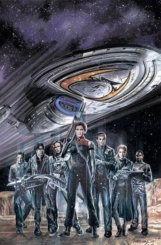 Star Trek Starships, Star Trek Enterprise, Star Trek Voyager, Star Trek Cast, Star Trek Series, Star Trek Borg, Star Trek Universe, Marvel Universe, Vaisseau Star Trek