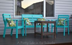 Our Deck Makeover Part 1: Painting Deck Furniture