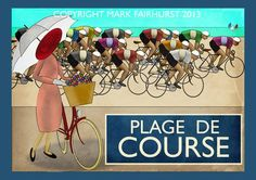 Zeitgeist Images founder Mark Fairhust pays tribute to the art of motion with deco style cycling posters Found Art, Courses, Embedded Image Permalink, Art Deco Fashion, Cycling, Bicycles, Style, The Beach, Ghosts