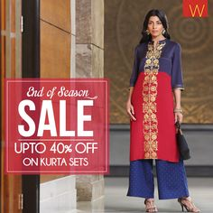 It's the year end sale! #eoss #sale #ethnic #Wear #Indian #fashion #style #jewellery #designer #design #contemporary #kurta #kurti #india #chunni #dhupatta #drape #arm #neck #necklace #earrings #churidar #jeans #plazzos #fashionbottoms