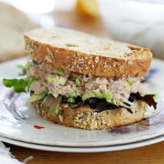Easy Brussels Sprout Tuna Salad With Chunk Light Tuna In Water, Shallots, Lemon Juice, Mayonnaise, Brussels Sprouts, Salt, Pepper