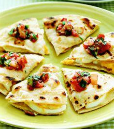 Quesadillas Huevos Rancheros,  Just tortillas, hard-boiled eggs, grated cheese, and salsa! Eating this tomorrow!!!