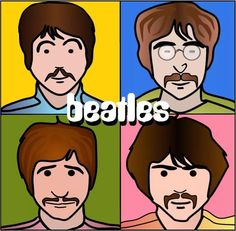 (Beatles) 'til the end (by 60sGirl) [Julian Opie style]