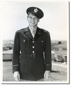 Ronald Reagan, In December 1941, right after the U.S. entered into World War II, Reagan was drafted into the army. His near-sightedness kept him from the front so he spent three years in the army working for the Motion Picture Army Unit making training and propaganda films. Then he served as Governor of CA, and they went on to two terms as The President of the United States of America.
