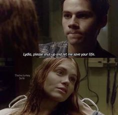 Lydia, please shut up and let me save yout life...