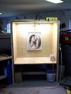 built a spray booth yesterday... $15.00 - Powder Coating Forum | Powder Buy the Pound