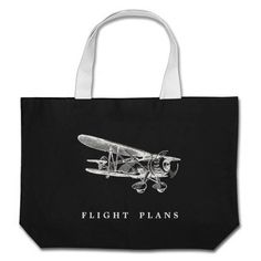 Vintage Aeroplane, Flight Plans Bag