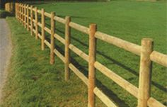 Wooden Post and Rail Fence
