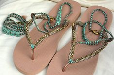 Flip Flops Bohemian Sandals Rose Gold Havaianas Sandals &