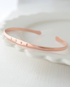 Copper Name Bracelet by olive yew