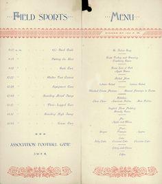 historic Thanksgiving menus