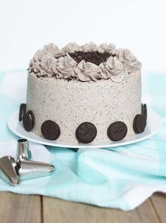 Banana cake with banana - HQ Recipes Oreo Cake, Cake Cookies, No Bake Desserts, Dessert Recipes, Cake Recept, Fondant Flower Cake, Healthy Cupcakes, Star Cakes, Wedding Cakes With Cupcakes