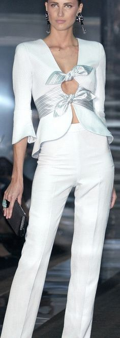 Armani Priv ... Visit the web page for 5 most suitable appearances using a lot of these irresistible white dress check http://topfashiondesigners.us/5-perfect-looks-with-white-dress/