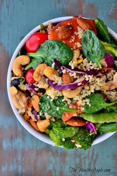 Detox Salad, even if you haven't been naughty you will want this in your life. Nuts, grains, greens, goodness.