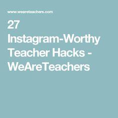 27 Instagram-Worthy Teacher Hacks - WeAreTeachers Teaching Activities, Teaching Science, Classroom Activities, School 2017, School Days, Back To School, Classroom Design, Future Classroom, Classroom Decor